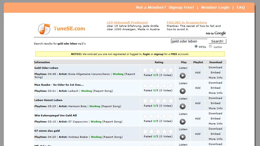 Lyric google lyrics search engine : TuneSE.com: music search engine | Maxiorel.com