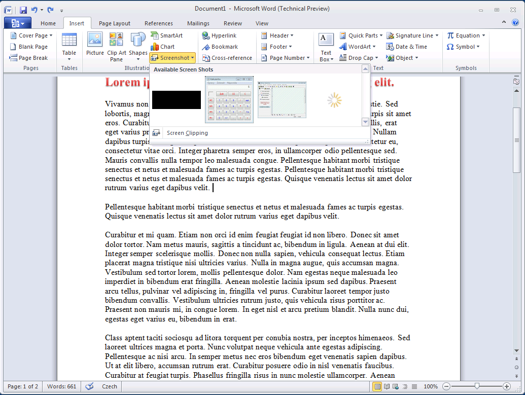 inserting pdf into word only inserts first page