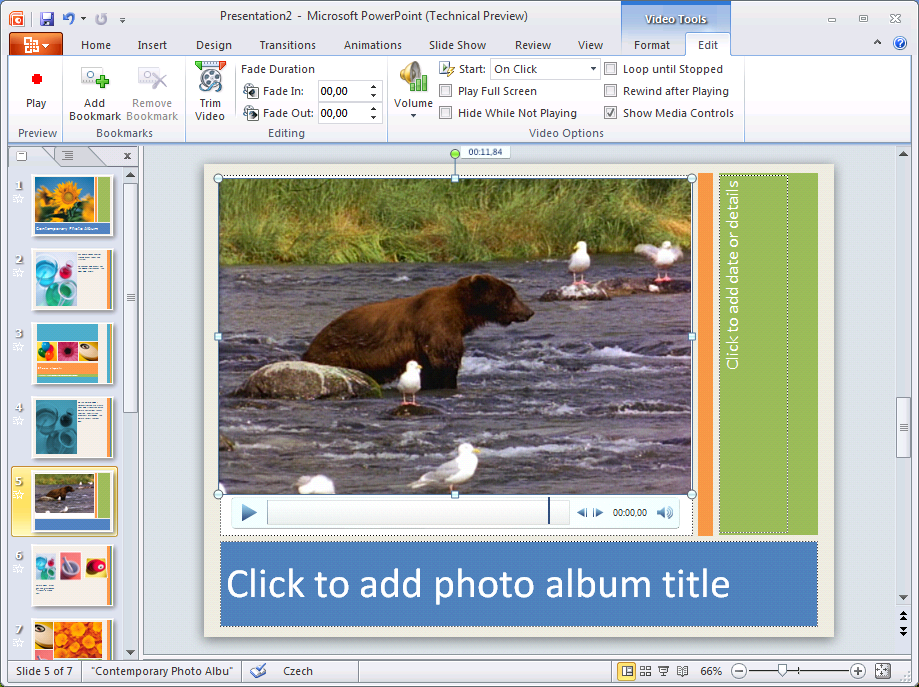 First glimpse of ms office 2010 powerpoint 2010 for Office 2010 design mode