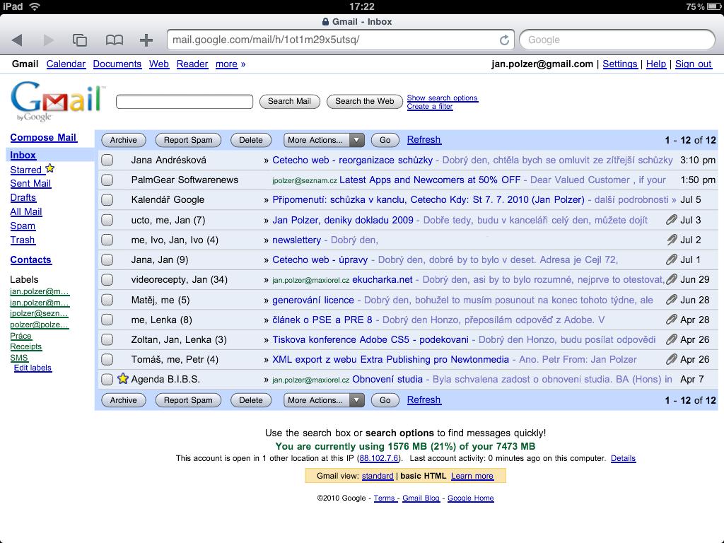 How to do the right iPad Gmail settings | Maxiorel.com - photo#30
