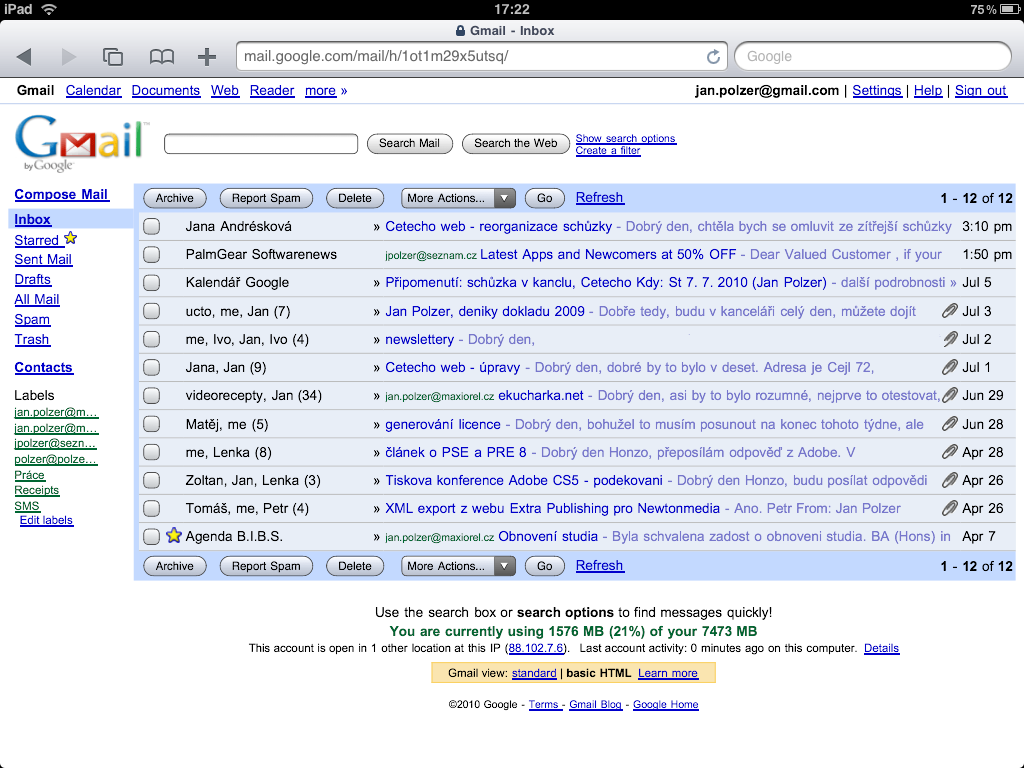 How to do the right iPad Gmail settings | Maxiorel.com