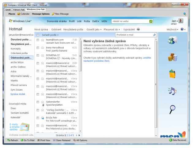 Compass Universal Client with Hotmail
