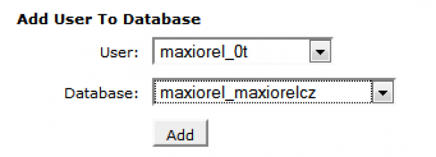 Adding another user with database access