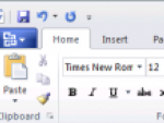 First glimpse of MS Office 2010 - Word 2010