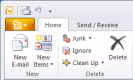 First glimpse of MS Office 2010 - Outlook 2010